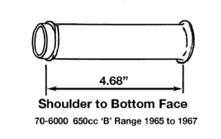 2 Triumph BSA Pushrod Seal Cup Washer 70-4746 bottom 500 650 1966 67 68 /& T150